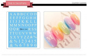 Nail Art Water Transfer Stickers Capital Letter - DLS244 Nail Sticker Tattoo - FashionDancing