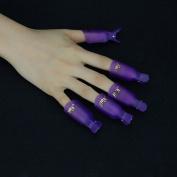 QIMISI Professional 10pcs Durable Reusable Plastic Nail Art Polish Soak Off Remover Wrap Cleaner Clip Cap Tool