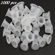 Black Menba 1000 Pcs #9 Plastic Tattoo Ink Caps Cups
