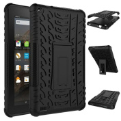 Fullkang Rugged Stand Rubber Shockproof Hybrid Hard Case Cover For Kindle Fire HD7 2015