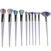 King Love Star Makeup Brushes 10PCS Make Up Brush set Soft Syntetic Hair Unicorn Makeup brushes Foundation Blending Blush Eyeshadow Make up Brushes Kit