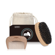 Xpreen Beard Brush and Beard Comb for Men, Beard Kit Set with Beard Boar Bristle Beard Brush for Men Beard Oil and Moustache Care