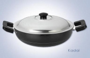 Anjali Non-Stick Kadai with Stainless Steel Lid, 2 Litres