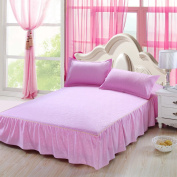 YFFS Pure Colour Single Cotton Cotton Bed Skirt Single Product Bed Skirt Sheets,180*200cm