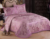 Bed Sheets Ice Silk Mats Three-piece Can Be Washed Air-conditioned Mats In The High-end Gifts Can Be Folded,Purple