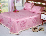 High-grade Washable Ice Curtain Can Be Folded Mats Bed Cover Three-piece,L