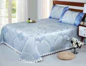 High-grade Washable Ice Curtain Can Be Folded Mats Bed Cover Three-piece,J