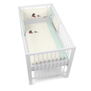 Sterntaler Bumper With Coordinated Baby Cot Bedding, 135 x 100 cm, Bobby the Bear