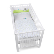 Sterntaler Bumper With Coordinated Baby Cot Bedding, 135 x 100 cm, Erik the Donkey