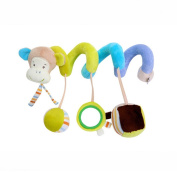 Ruiying Stroller Monkey Hanging Toy Twisty Curly Pram Pushchairs Car Seat Cot Bed Gift Toys