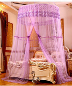 Hanging Dome Mosquito Nets Open Door Princess Landing Insect Bug Protection Bed Canopy Bed Canopy Curtain