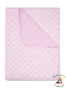 BlueberryShop Minky Printed Coral Fleece Blanket for Baby, Pink