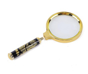 G & M Magnifying Glass Metal Frame Dragon Handle Metal Handheld 5X Magnifier Loupe Reading Jewellery Gold Colour