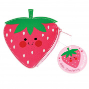 Hello Strawberry Vinyl Coin Purse