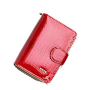 Rieovo RFID Genuine Leather Ladies Soft Wallet Luxury Purse Womens,Red