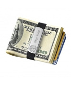 Budd Leather Stainless Steel Money Clip Wallet