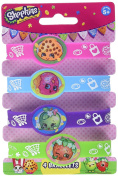 "Unique Party 42890 ""Shopkins"" Silicone Wristbands Party Bag Filler"