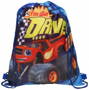 Kids Character Swimming Gym Pump Bag Sports School Drawstring Bag Girls Boys