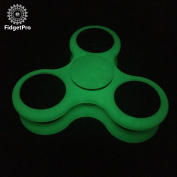 Glow-In-The-Dark FidgetPro® Tri-Spinner Fidget Spinner - Green - 3 Minute Spinning Time - Warehoused and Shipped by Amazon