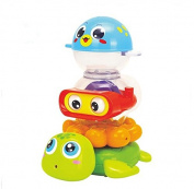 Early Education 9 Months Old Baby Bath Toy with Stacking Cups Suction Cup For Baby Kids Children Boy Girl