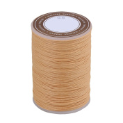 BQLZR 0.6mm Dia 95m Length Beige Ramie Round Waxed Cord Wax String Linen Stitching Thread for Leather Craft Sewing DIY Jewellery Making