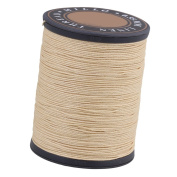 BQLZR 0.55mm Dia 150m Length Beige Round Flax Waxed Linen Sewing Cord Wax String Stitching Thread for Leather Craft DIY Handmade