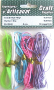 Vinyl Cord Gimp Multi Pastel Colours 2 mm 10 yards Arts & Crafts