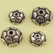 MFMei Antique Style Bead Caps, Sterling Silver Lotus Flower Caps (CY042)