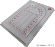 Spiral 33cm X 23cm White Plastic Bead Tray : ( Pack Of 2 Pcs )