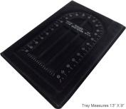 Spiral 33cm X 23cm Black Plastic Bead Tray