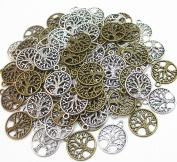Dandan DIY 20pcs/10pairs Life Tree Antique Charms Beads Alloy Tree of Life Pendant Craft Accessory Diy Necklace Bracelet Craft Jewellery Making Supply