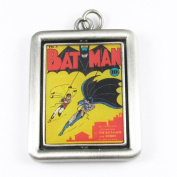 DC Comics Originals Silver Double Sided Metal Spinner Pendant- Batman