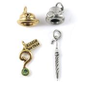 DC Comics Originals Gold and Silver Metal Charm Set - Penguin/Riddler