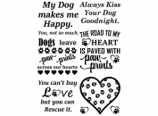 Dogs Leave Paw Prints Black 17CC794 Fused Glass Decals