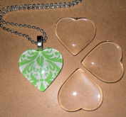 Patty both Set 10 Clear 2.5cm Glass Tile Hearts for Jewellery Making and Crafting