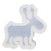 Funshowcase Cute Reindeer Silicone Mould Trays for Crafting, Resin Epoxy, Jewellery Making