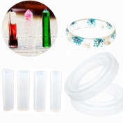 Sparklelife 4 Pcs Pendant Resin Moulds with 2 Pcs Bracelet Silicone Mould Mould Jewellery Making Hand Craft Tool