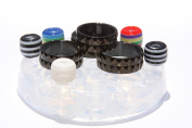 Clear silicone Ring mould.Faceted size 7,8,9,10+5European beads,hole 5mm.