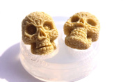 Clear-silicone Flat backs skull mould.Size 38x29mm Handmade item