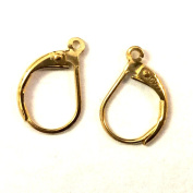 2 pcs 14k Gold Filled Leverback Earwires Lever Back Earring Connector / Findings / Yellow Gold