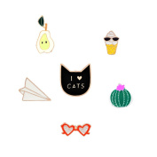 SIVITE Cartoon Brooch Pins Fashion Patches for Clothes Bag Delicate Enamel Brooch Fancy Ornament