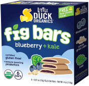 Little Duck Organics Fig Bars - Fig + Blueberry + Kale - 6ct120ml