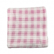 Super Soft Polyester Baby Blanket Pink Gingham Print 70cm x 70cm