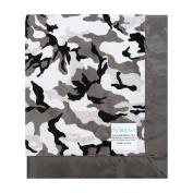 My Blankee Winter Camouflage with Flat Satin Border Stroller Blanket, 80cm x 90cm