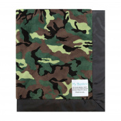My Blankee Army Camouflage with Flat Satin Border Stroller Blanket, 80cm x 90cm