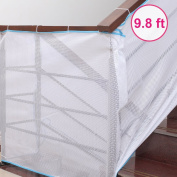 Eudemon Baby 3m L× 0.8m W Deck Guard - Safe Rail Net, Indoor Balcony and Stairway Railing Safety Net