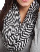 Loop-dee Grey & Black Mini Stripe Nursing Infinity Scarf