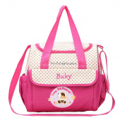 MonkeyJack Baby Changing Bags Large Nappy Bag Nappy Tote with Changing Mat Waterproof - Pink