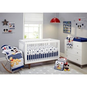 Disney Let's Go Mickey II 4-Piece Crib Bedding Set