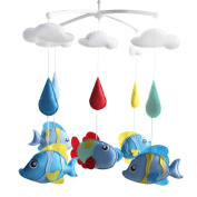 [Aquarium fish] Infant Musical Mobile, Nursery Mobile, Baby Mobile